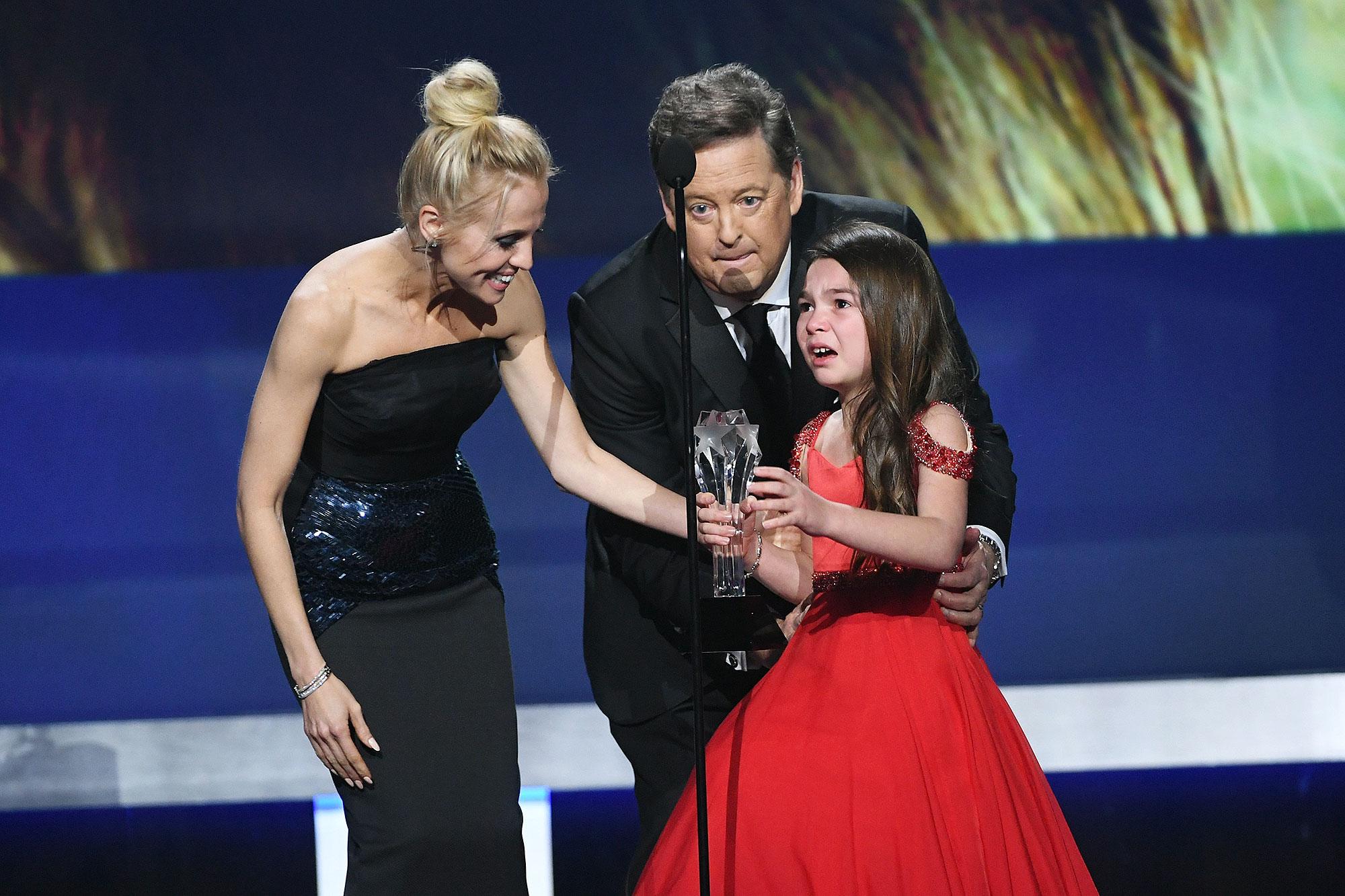 """حصلت بروكلين برنس على جائزة أفضل ممثلة شابة في حفل جوائز النقاد للأفلام """"annual Critics' Choice Awards"""" في دورته الـ23"""